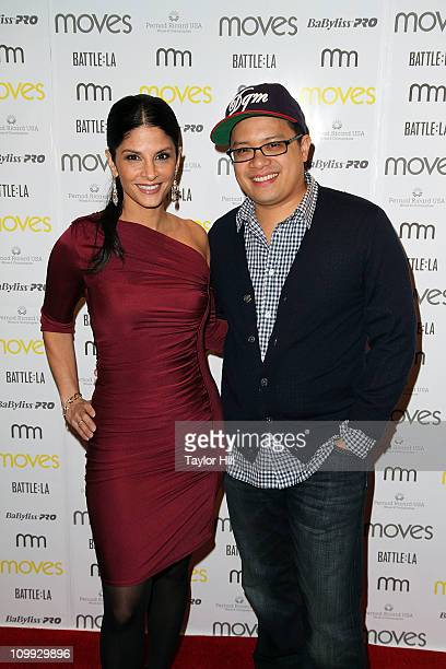 Darlene Rodriguez and Dale Talde attend the 2011 New York Moves Magazine Spring Party at Plein Sud on March 10 2011 in New York City