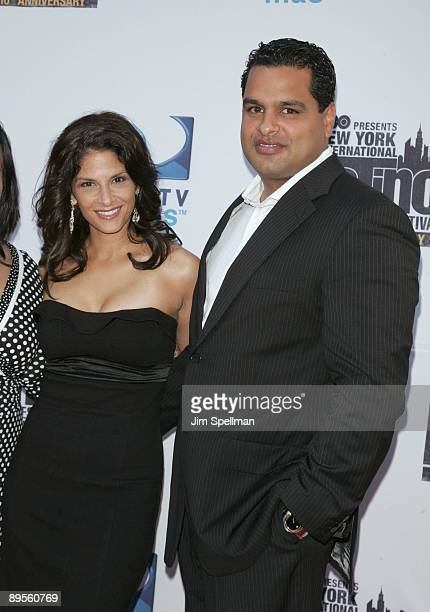 Darlene Rodriguez and husband David Rodriguez attend the 10th Anniversary New York International Latino Film Festival premiere of The Line at SVA...