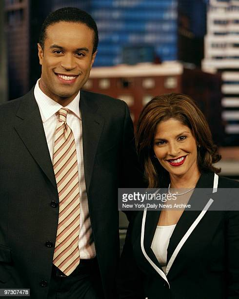 Darlene Rodriguez and Maurice Dubois anchors for newschannel 4 New York at their Manhattan studio