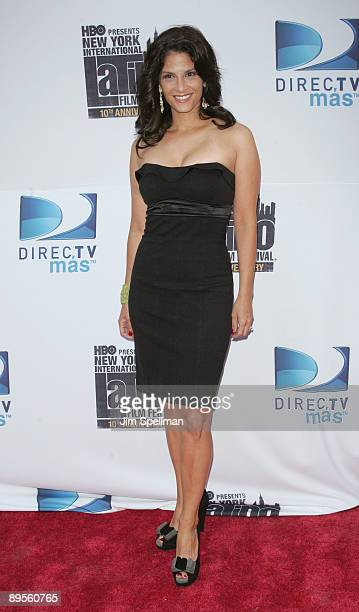 Darlene Rodriguez attends the 10th Anniversary New York International Latino Film Festival premiere of The Line at SVA Theater on August 1 2009 in...