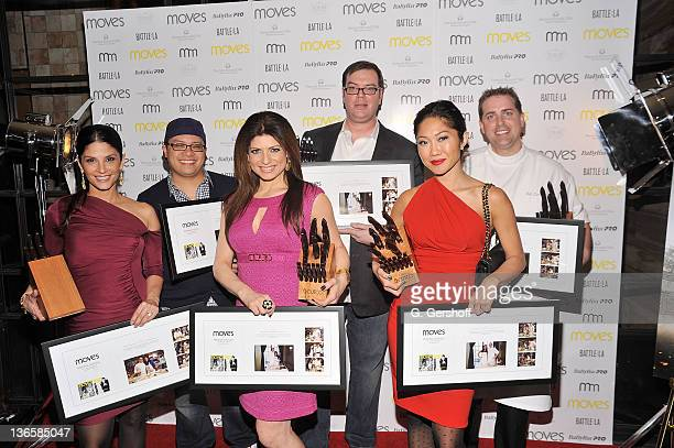 Darlene Rodriguez Dale Talde Tamsen Fadal Chris Siversen Julie Chang and Ed Cotton attend the 2011 New York Moves Magazine Spring Party at Plein Sud...