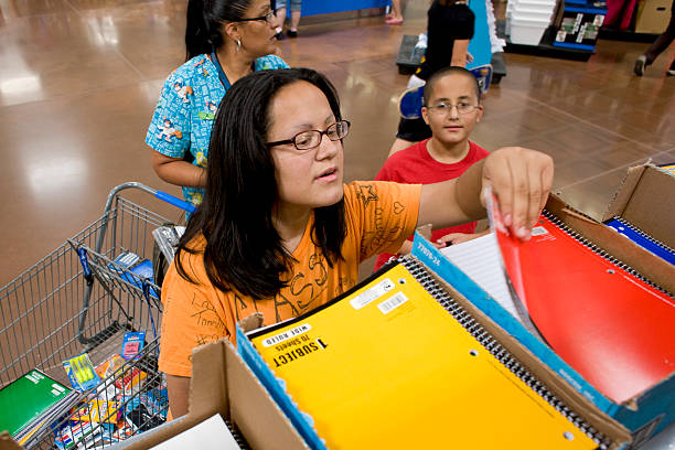 Darlene Soto Rear Shops For School Supplies With Her Child