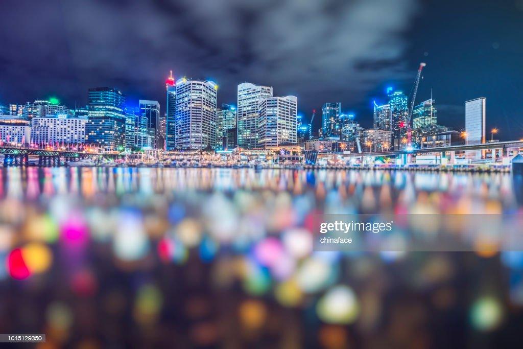 darling harbor defocused,Sydney : Stock Photo