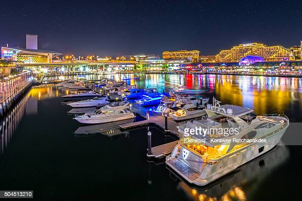 Darling harbor in the night time