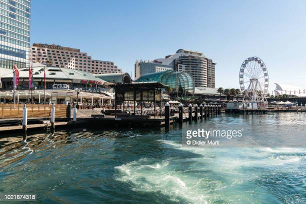 A Darling Harbor view on a sunny summer in Sydney, Australia largest city.