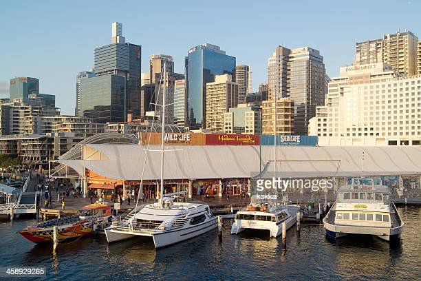 darling harbour attractions - darling harbour stock pictures, royalty-free photos & images