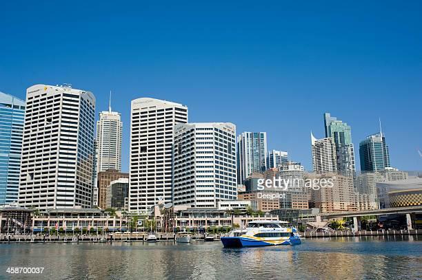 Darling Harbour City Skyline in Sydney Australia