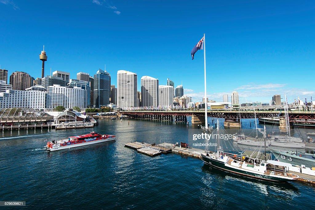 Darling Harbour in Sydney, Australia : Stockfoto