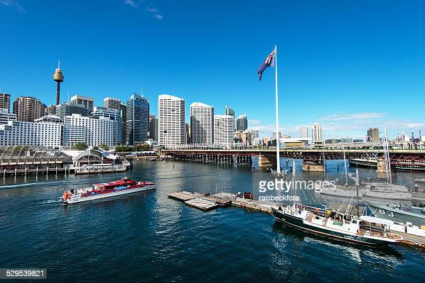 darling harbour in sydney, australia - darling harbour stock pictures, royalty-free photos & images