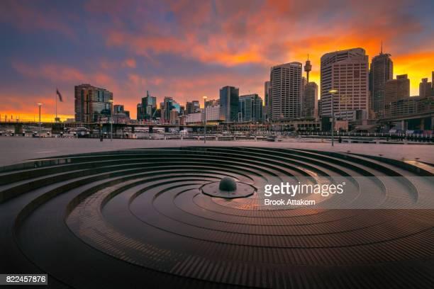 Darling Harbour landmark of Sydney Australia.