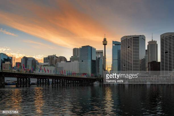 darling harbour, sydney, australia - darling harbour stock pictures, royalty-free photos & images