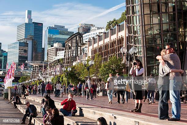 darling harbour sydney - darling harbour stock pictures, royalty-free photos & images