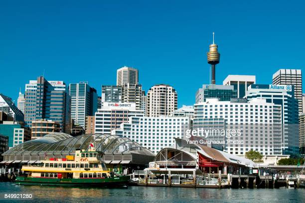 darling harbour,sydney, new south wales, australia - darling harbour stock pictures, royalty-free photos & images