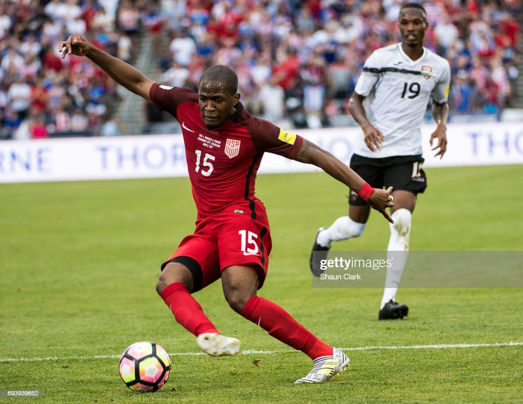 Darlington Nagbe #15 of United States during the World Cup Qualifier match between the United States and Trinidad & Tobago at Dick's Sporting Goods Park on June 8, 2017 in Commerce City, Colorado. The United States won the match 2-0