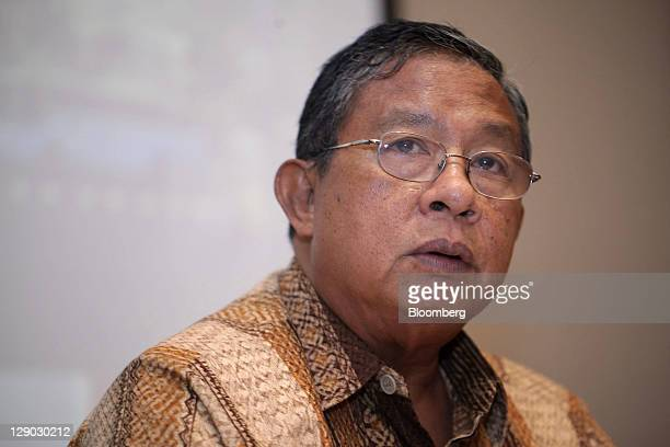 Darmin Nasution governor of Bank Indonesia speaks during a news conference at the central bank in Jakarta Indonesia on Tuesday Oct 11 2011...