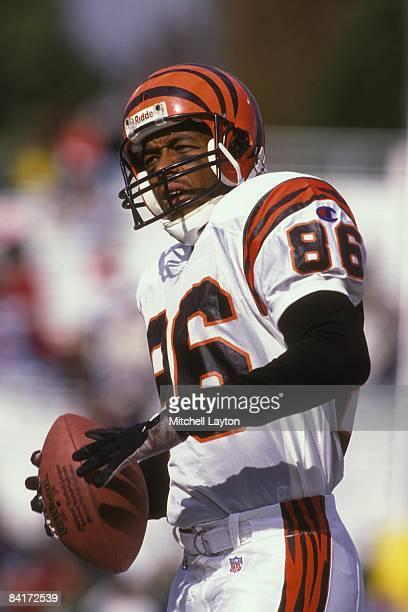 Darnay Scott of the Cincinnati Bengals before a NFL football game against the Baltimore Ravens on November 3 1996 at Memorial Stadium in Baltimore...
