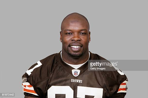 Darnell Dinkins of the Cleveland Browns poses for his 2008 NFL headshot at photo day in Cleveland Ohio