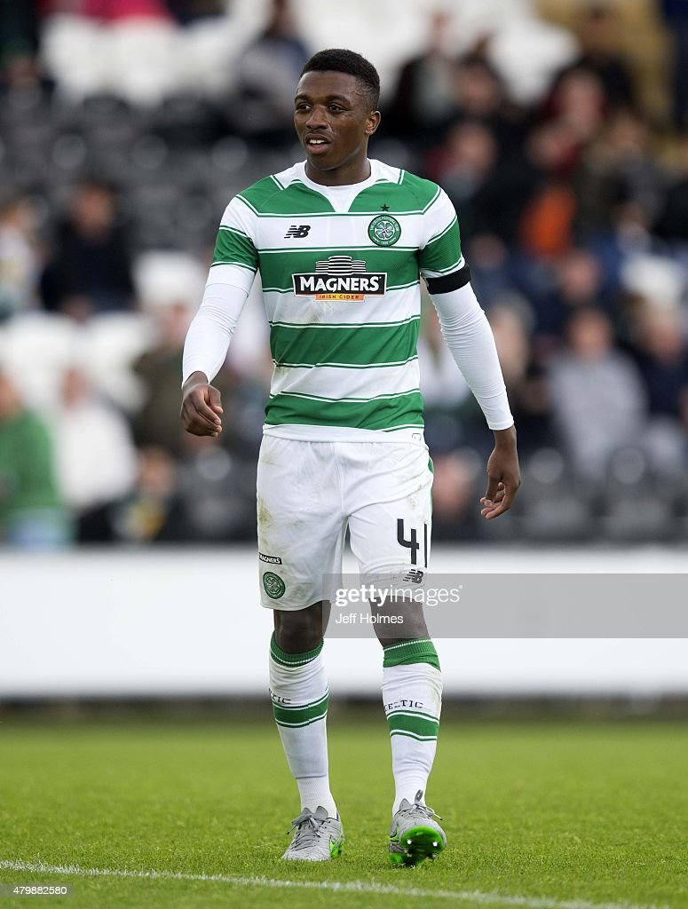 Darnell Fisher of Celtic at the Pre Season Friendly between Celtic and FK Dukla Praha at St Mirren Park on July 04, 2015 in Paisley, Scotland.