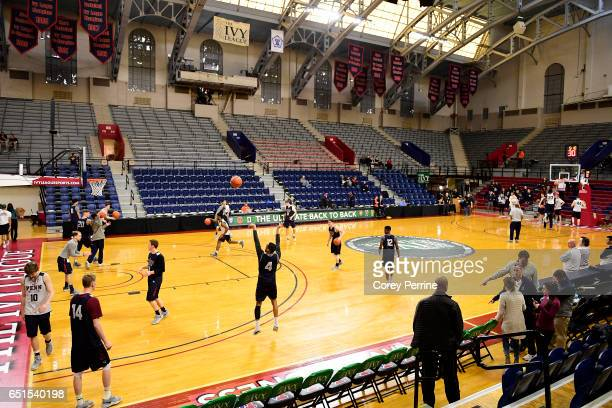 Darnell Foreman of the Pennsylvania Quakers shoots the ball during a shoot around practice in preparation for the Ivy League tournament at The...