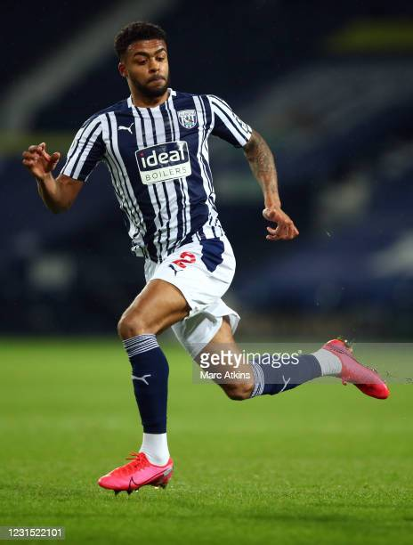 Darnell Furlong of West Bromwich Albion during the Premier League match between West Bromwich Albion and Everton at The Hawthorns on March 4, 2021 in...