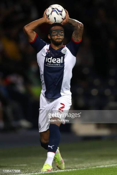 Darnell Furlong of West Bromwich Albion takes a throw during the Sky Bet Championship match between West Bromwich Albion and Queens Park Rangers at...