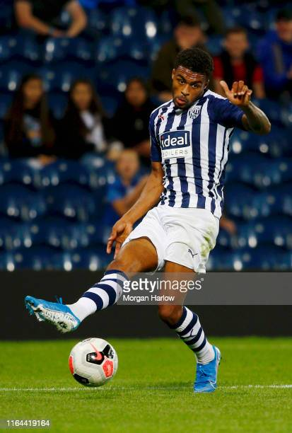 Darnell Furlong West Bromwich Albion runs with the ball during the PreSeason Friendly match between West Bromwich Albion and Bournemouth at The...