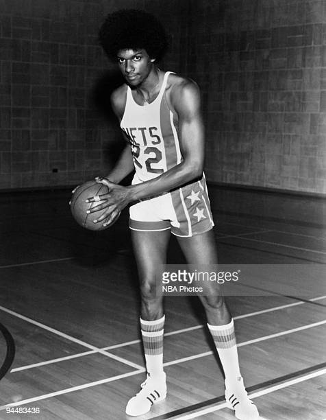 Darnell Hillman of the New Jersey Nets poses for mock action portrait in 1978 in New Jersey NOTE TO USER User expressly acknowledges and agrees that...