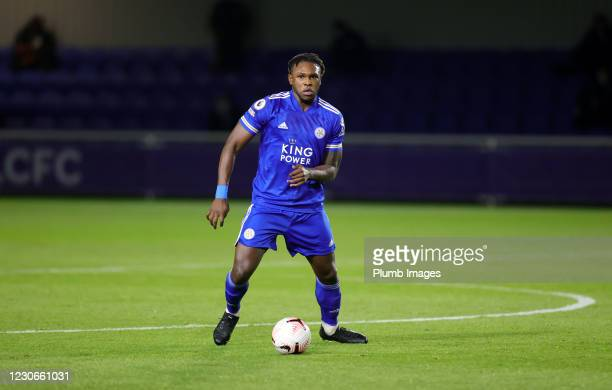 Darnell Johnson of Leicester City during the Premier League 2 match between Leicester City and Manchester United at Leicester City Training Ground,...