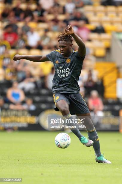 Darnell Johnson of Leicester City during the preseason match between Notts County and Leicester City at Meadow Lane on July 21 2018 in Nottingham...