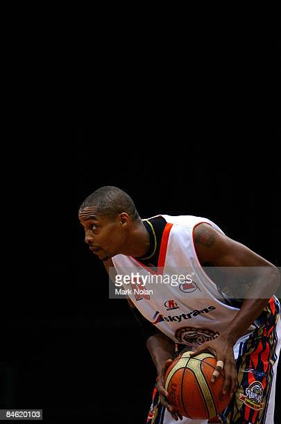 Darnell Mee of the Taipans looks for an opening during the round 21 NBL match between the Sydney Spirit and the Cairns Taipans held at Sydney Olympic...