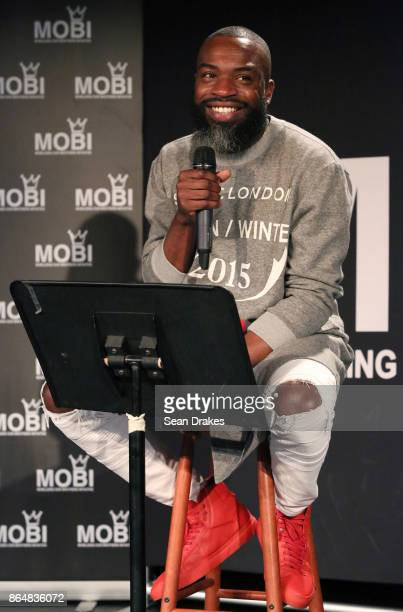 Darnell Moore editor of CassisusLifecom speaks during MOBI Talks a life mentoring conference series at the National Black Theater of Harlem on...