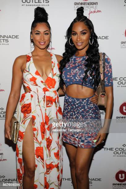 Darnell Nicole and Ashley Nicole Roberts attend The Nicole Miller 2017 Spring Collection At The Underground Lauderdale Fashion Weekend Brought To You...