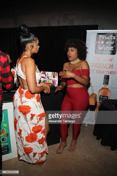 Darnell Nicole and Hencha Voight attend The Nicole Miller 2017 Spring Collection At The Underground Lauderdale Fashion Weekend Brought To You By The...