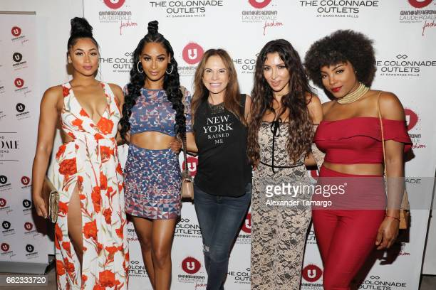 Darnell Nicole Ashley Nicole Roberts Angela Gorge Metisha Schaefer and Hencha Voigt attend The Nicole Miller 2017 Spring Collection At The...