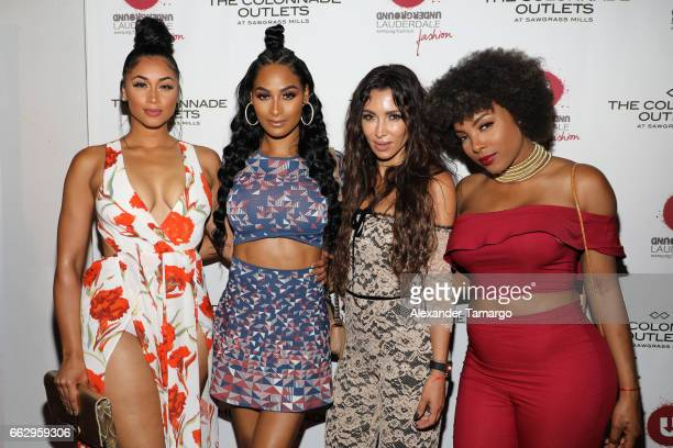 Darnell Nicole Ashley Nicole Roberts Metisha Schaefer and Hencha Voigt attend The Nicole Miller 2017 Spring Collection At The Underground Lauderdale...