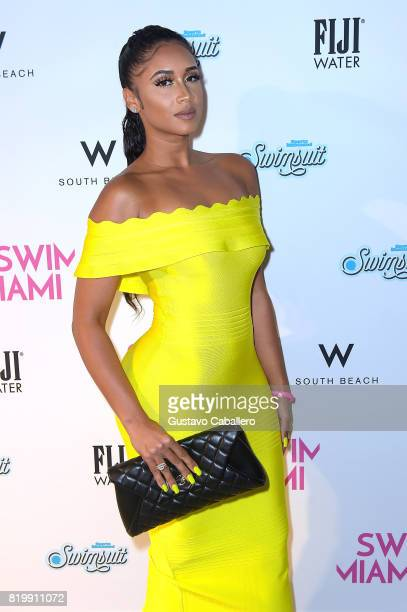 Darnell Nicole attends Sports Illustrated and Wall present SWIMMIAMI 2017 Opening Party Backstage/Front Row at WET Deck at W South Beach on July 20...