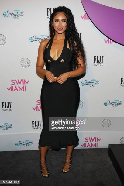Darnell Nicole attends SWIMMIAMI HotAsHell 2018 Collection at 227 22nd Street on July 21 2017 in Miami Beach Florida