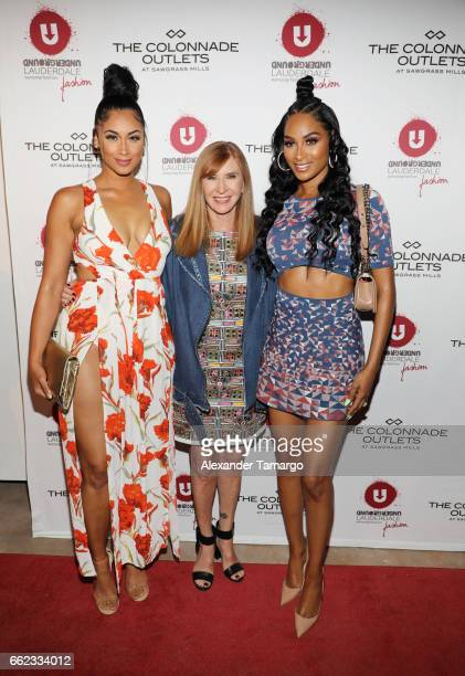 Darnell Nicole designer Nicole Miller and Ashley Nicole Roberts attend The Nicole Miller 2017 Spring Collection At The Underground Lauderdale Fashion...