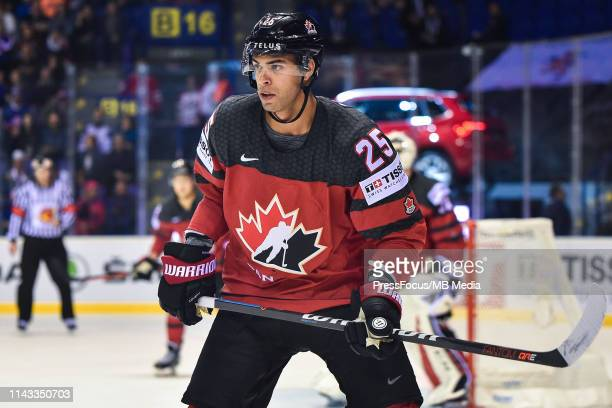 Darnell Nurse of Canada looks on during the 2019 IIHF Ice Hockey World Championship Slovakia group A game between Great Britain and Canada at Steel...