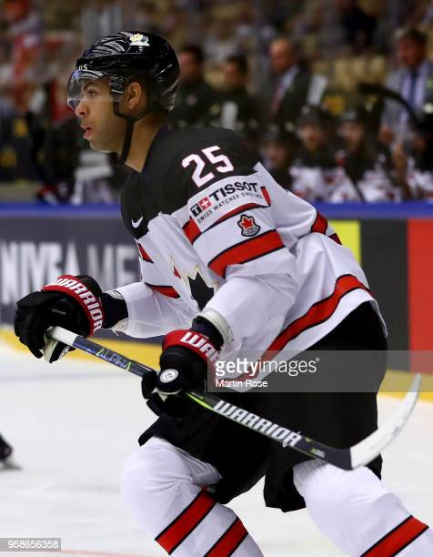 Darnell Nurse of Canada skates against Latvia during the 2018 IIHF Ice Hockey World Championship Group B game between Canada and Latvia at Jyske Bank...