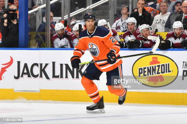 Darnell Nurse of the Edmonton Oilers skates during the game against the Colorado Avalanche on November 14 at Rogers Place in Edmonton Alberta Canada