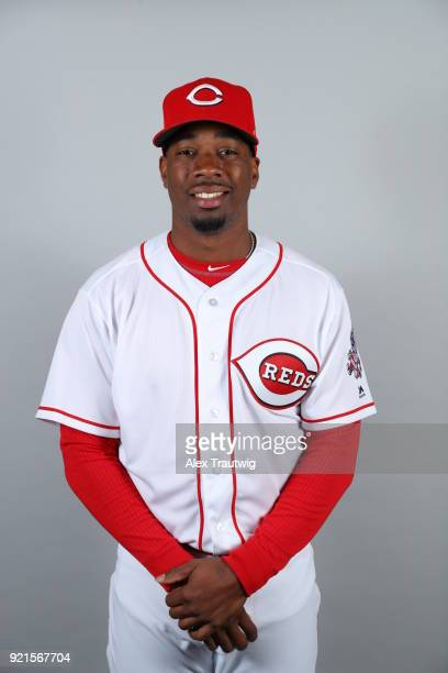 Darnell Sweeney of the Cincinnati Reds poses during Photo Day on Tuesday February 20 2018 at Goodyear Ballpark in Goodyear Arizona