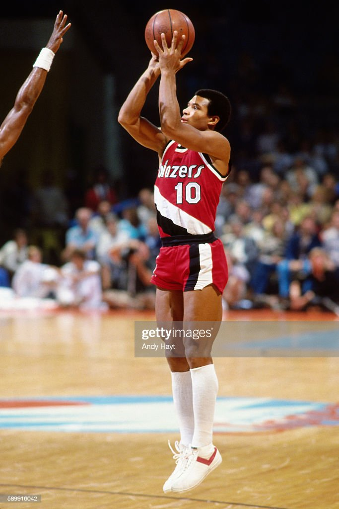 Darnell Valentine Of The Portland Trail Blazers Shoots The Ball During A  Game Circa 1982 In