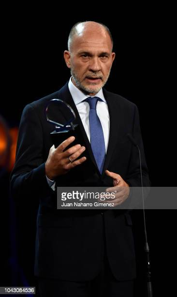 Darío Grandinetti during the closing ceremony of 66th San Sebastian Film Festival at Kursaal on September 29, 2018 in San Sebastian, Spain.