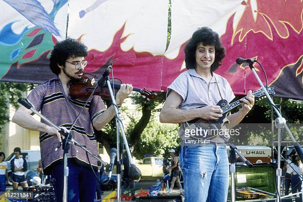 Darol Anger and Mike Marshall performs at the Whole Earth Fair in Davis California on January 1 1977