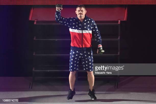 Daron Cruickshank enters the ring during the RIZIN 14 at Saitama Super Arena on December 31 2018 in Saitama Japan