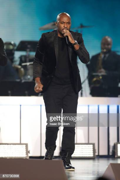 Daron Jones of 112 performs onstage at the 2017 Soul Train Awards presented by BET at the Orleans Arena on November 5 2017 in Las Vegas Nevada