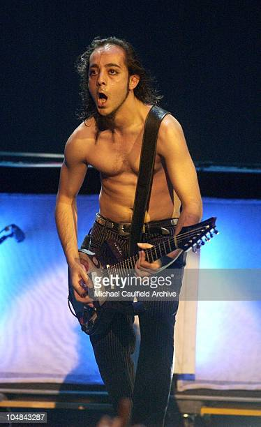 Daron Malakian of System of a Down during MTV Music Video Awards Latinoamerica 2002 Show at Jackie Gleason Theater Miami in Miami Florida United...