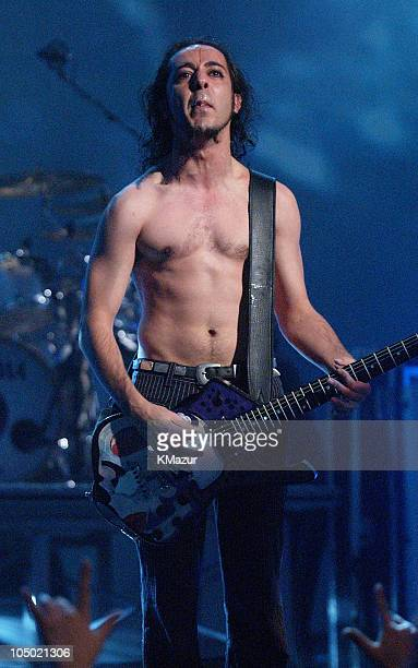 Daron Malakian of System of a Down perform at the MTV Video Music Awards Latinoamerica 2002