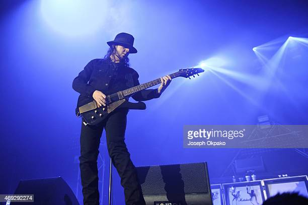 Daron Malakian of System Of A Down performs on stage at SSE Arena Wembley on April 10 2015 in London United Kingdom